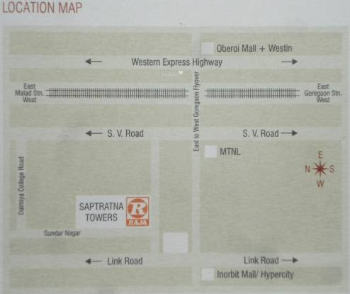 Raja Saptaratna Towers Location Plan