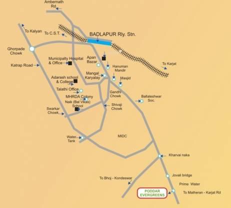 Poddar Samruddhi Evergreens Location Plan