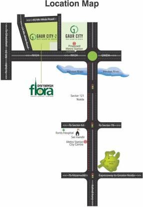 Divyansh Flora Location Plan