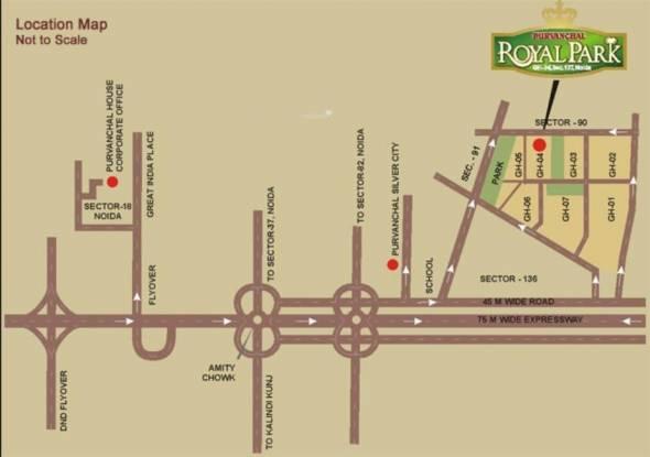 Purvanchal Royal Park Location Plan