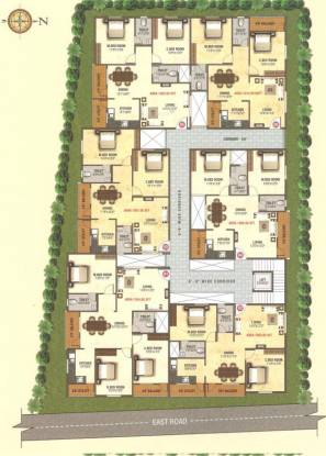 AR Manjunatha Residency Site Plan