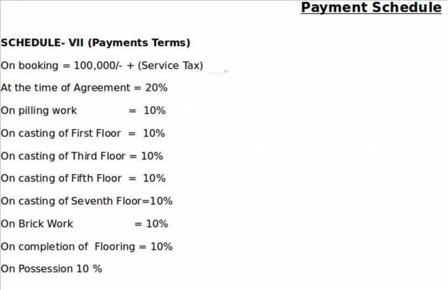 Deeshari Megacity Payment Plan