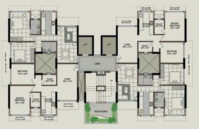 Poddar Samadhan Apartments Cluster Plan