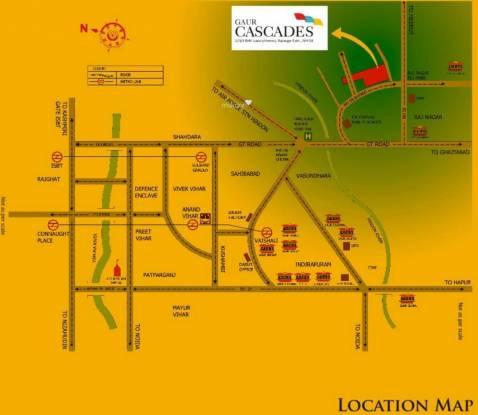 Gaursons Gaur Cascades Location Plan