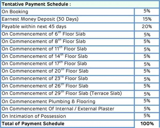 Adani Estates Western Heights Phase 1 Residential Payment Plan
