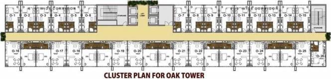 Paramount Golfforeste Premium Apartments Cluster Plan