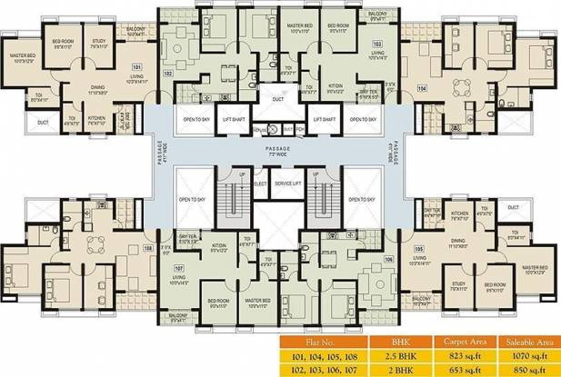 Amanora Trendy Homes Cluster Plan