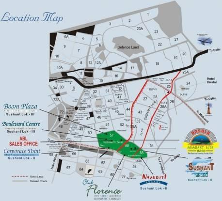Ansal Sushant Residency Location Plan