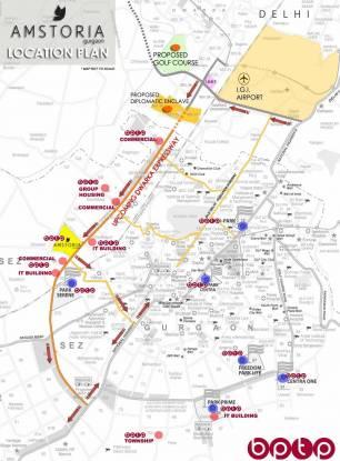 BPTP Amstoria Country Floor Location Plan