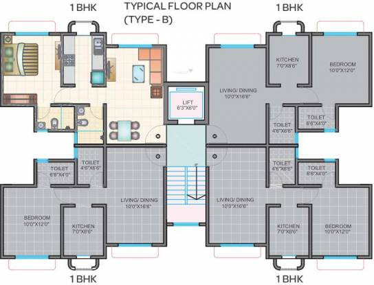 Ecohomes Greens Cluster Plan