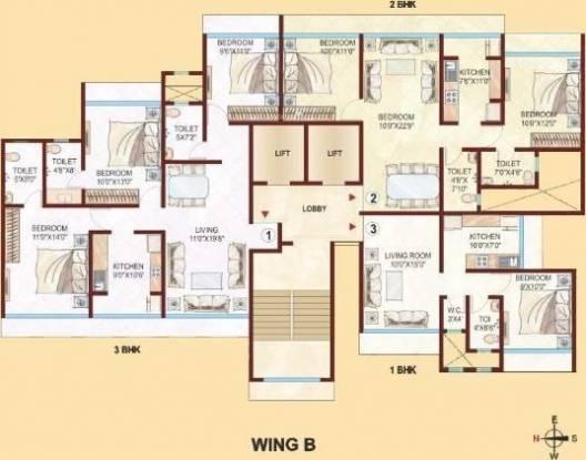 aurum-wing-a-b-c-and-d-of-unnat-nagar-ii Aurum Wing A B C AND D of Unnat Nagar II Cluster Plan