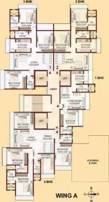 Kabra Aurum Wing A B C AND D of Unnat Nagar II Cluster Plan