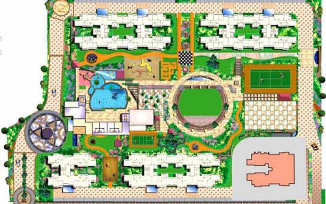 Dosti Flamingos Site Plan