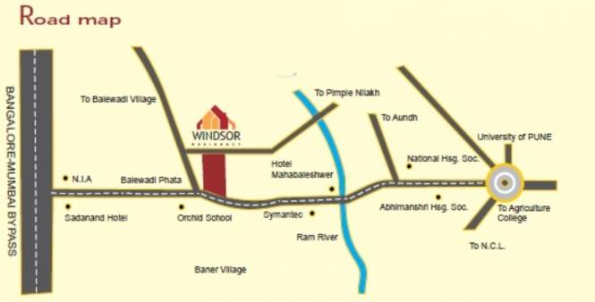 Icon Windsor Residency Location Plan