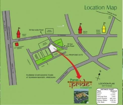 PRL Paras Pride Location Plan