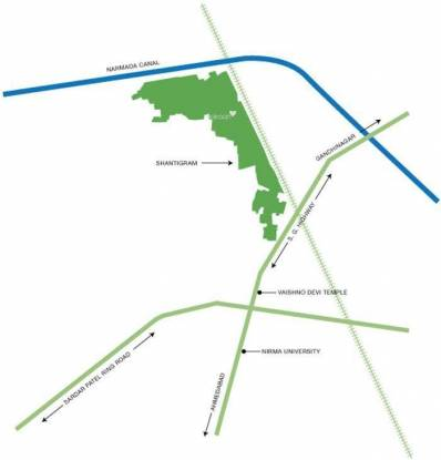 Adani Aangan Location Plan