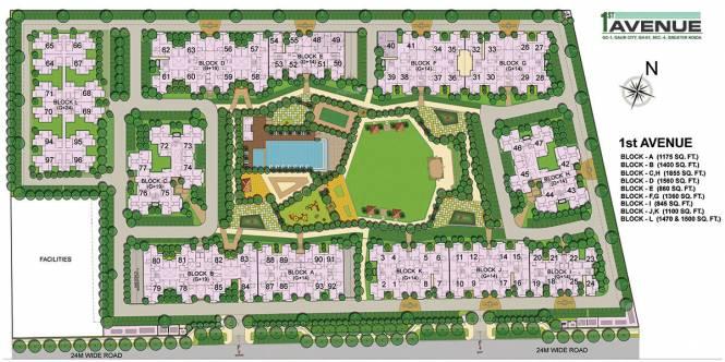 Gaursons 1st Avenue Layout Plan