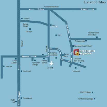 Yashada Splendid square Location Plan