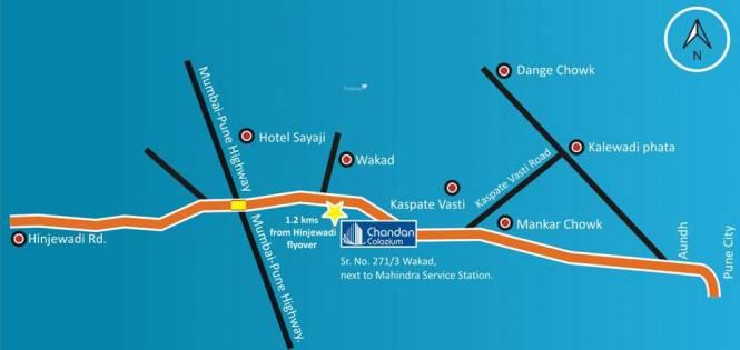 Chandan Colozium Location Plan
