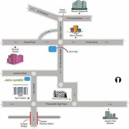 Jain Surabhi Location Plan
