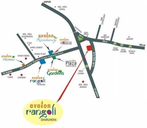 Avalon Rangoli Location Plan