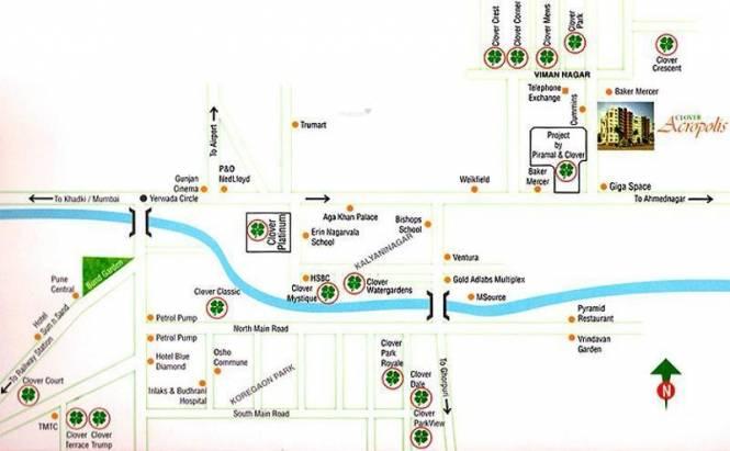 Clover Acropolis Location Plan