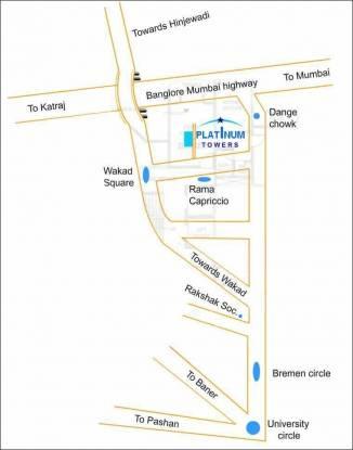 Kishor Platinum Towers Location Plan