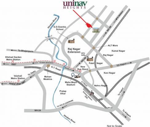 Uninav Heights Location Plan