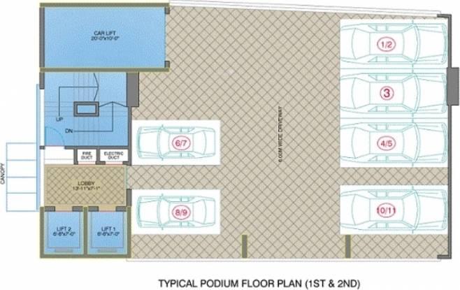 Veena Royale Villa Cluster Plan