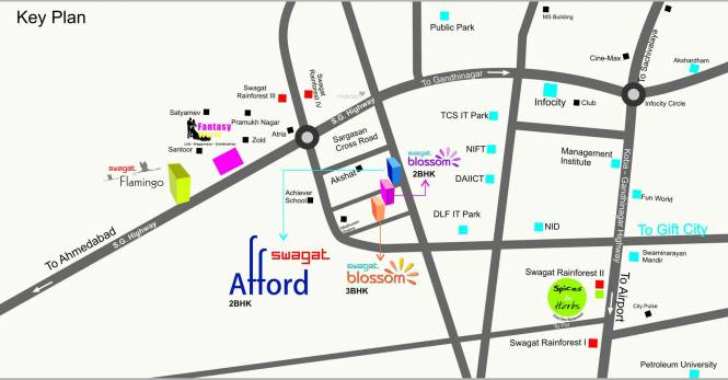 Swagat Blossom Location Plan