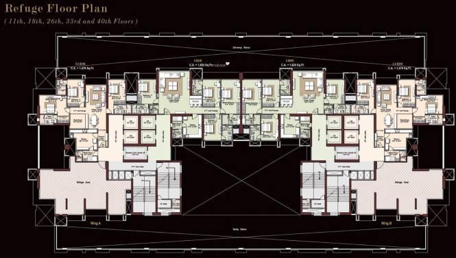 Raheja Imperia I Cluster Plan