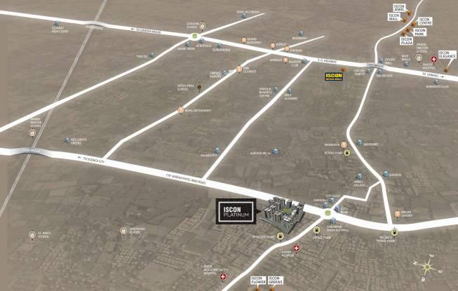 JP Iscon Platinum Location Plan