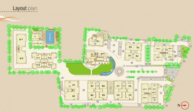 JP Iscon Heights Layout Plan