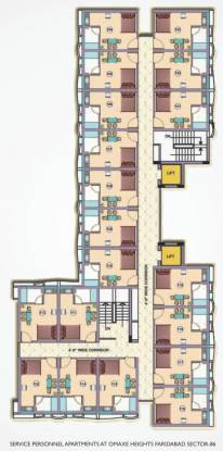 Omaxe Service Personnel Apartments Cluster Plan