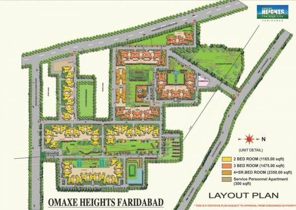 Omaxe Service Personnel Apartments Layout Plan