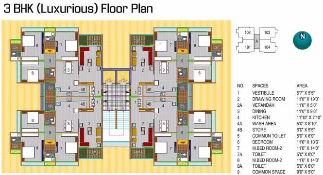 Ajmera Enigma Cluster Plan