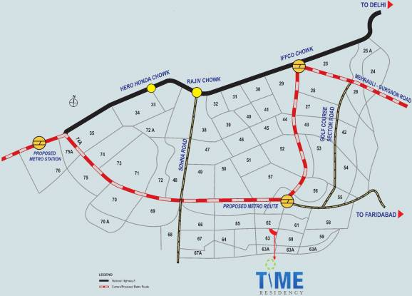 Dhoot Time Residency Location Plan