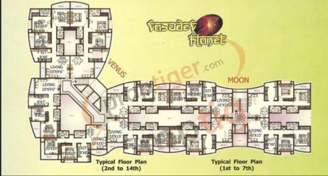 Basudev Builders Vasudev Planet Cluster Plan