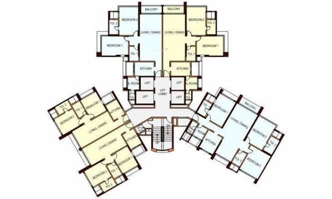 Peninsula Ashok Gardens Cluster Plan