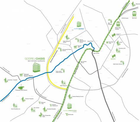 Godrej Oasis Location Plan