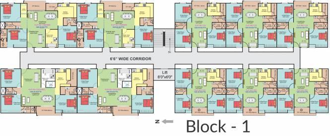 Janapriya Classic Homes Cluster Plan