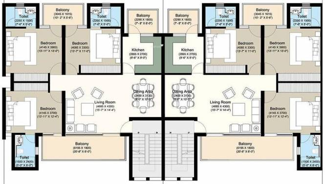 Puri VIP Floors Cluster Plan