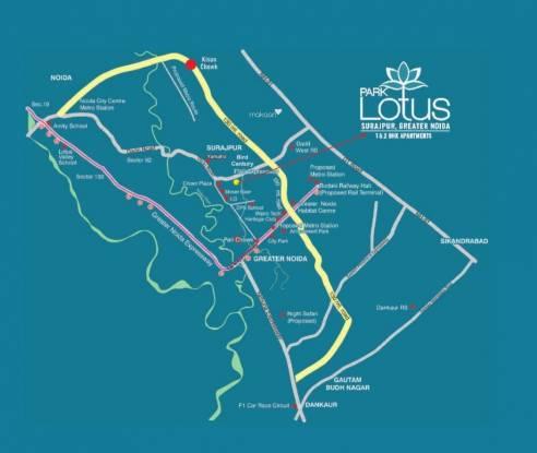 Renowned Park Lotus Location Plan