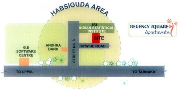Jubilee Regency Square Apartments Location Plan