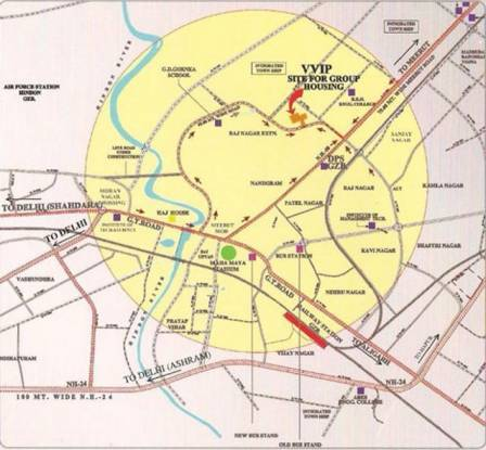 VVIP Addresses Location Plan