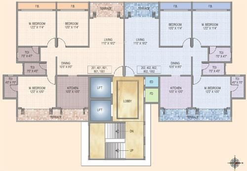 Konnark Shree Krishna Paradise Cluster Plan