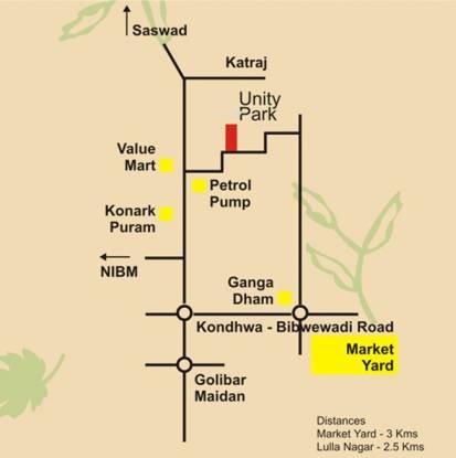 Bhandari Unity Park Location Plan