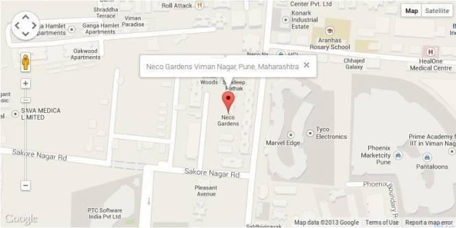 Vasupujya Neco Gardens Location Plan