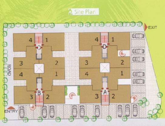 Poddar Palm Enclave Site Plan