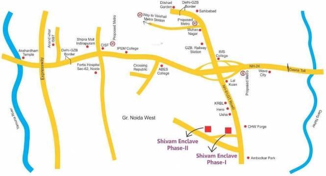 Salvos Shivam Residency Location Plan